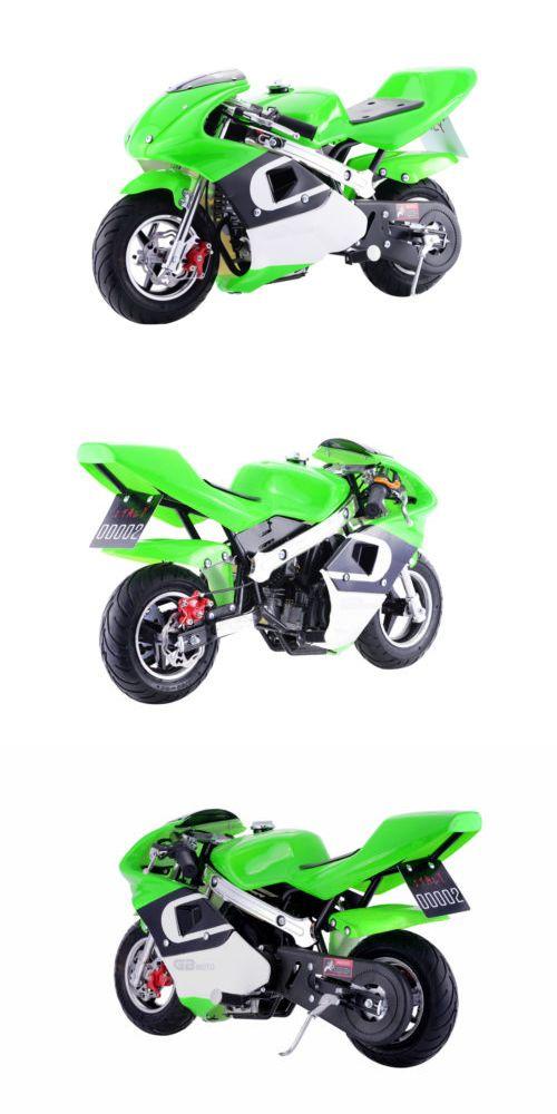Gas Scooters 75211: Go-Bowen 4-Stroke 40Cc Gas Pocket Bike Motorcycle - Green -> BUY IT NOW ONLY: $349 on eBay!
