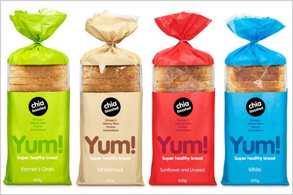 This is another package of bread that I found when researching. I like this packaging as it makes the bread look interesting and fun even though the the packaging is quite simple.