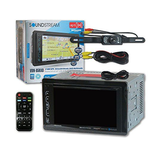 "Soundstream VRN-65HXB Double DIN 2DIN 6.2"" Car GPS Navigation MP3 CD DVD player Bluetooth Sirius XM Ready + DCO Waterproof Backup Camera with Nightvision (Optional camera). For product info go to:  https://www.caraccessoriesonlinemarket.com/soundstream-vrn-65hxb-double-din-2din-6-2-car-gps-navigation-mp3-cd-dvd-player-bluetooth-sirius-xm-ready-dco-waterproof-backup-camera-with-nightvision-optional-camera/"