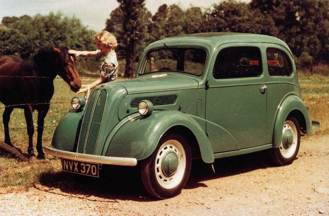 Ford Popular 1955.  Ours was black.  It is the car we owned while living in England