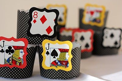 cute candy cups for a casino party the cup decorations were cut out from an old deck of cards fiesta casino casino party pinterest vegas theme - Casino Decorations