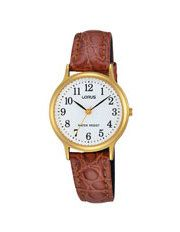 RRS60VX-9 Ladies Gold Leather Strap Watch