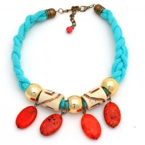 Collar Trenza Tela | Dulce Encanto accesorios para mujer