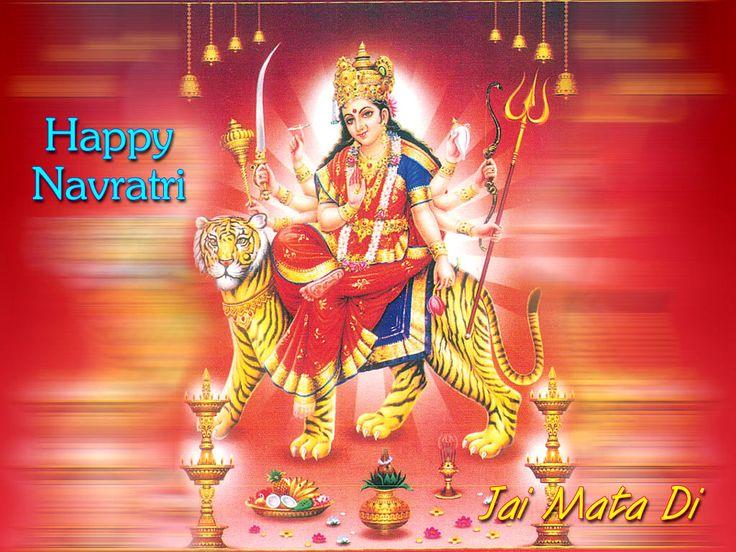 Navratri Greetings Messages Wallpaper Free Download