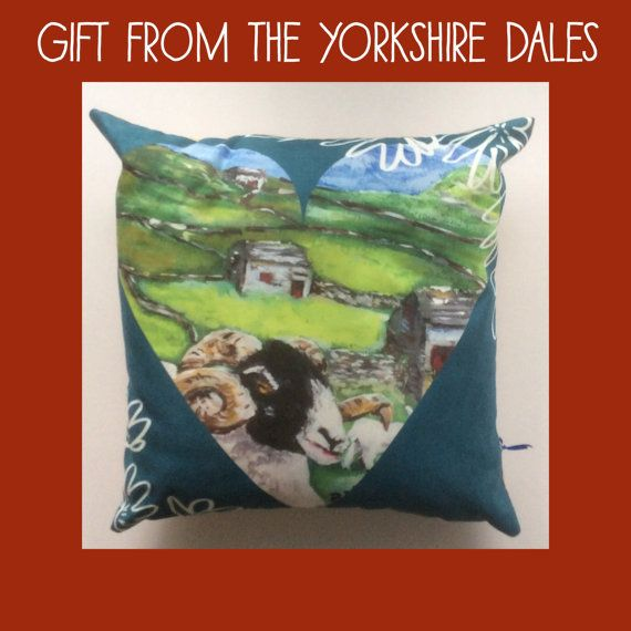 Yorkshire Dales sheep cushion in faux suede from by mrsmaddenmakes  Great gift for only £29 plus worldwide postage