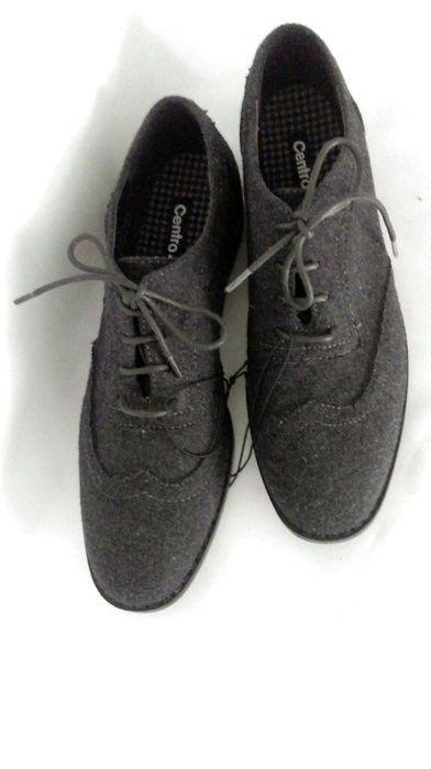Nowe buty jazzówki oxfordki półbuty szare eleganckie filc 41 - vinted.pl