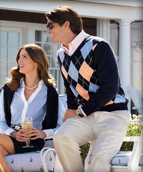 one preppy looking couple    - this will for sure be me when i'm an adult