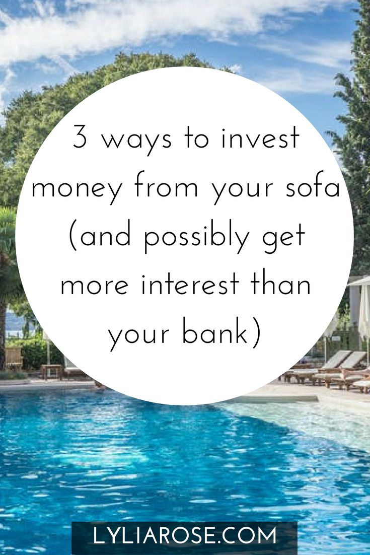 3 ways to invest money from your sofa (and possibly get more interest than your bank)  I've been really shocked at the appalling rates of interest banks are now offering on savings.  My eSaver now earns only 0.15% which is pretty pathetic.  They might as well not bother.  Our joint savings builder account is a little better with 1.5%.  Still, it's not a very enticing figure.  This has led me to start investigating other ways I can invest some of our savings for a possible higher return.  I'm…