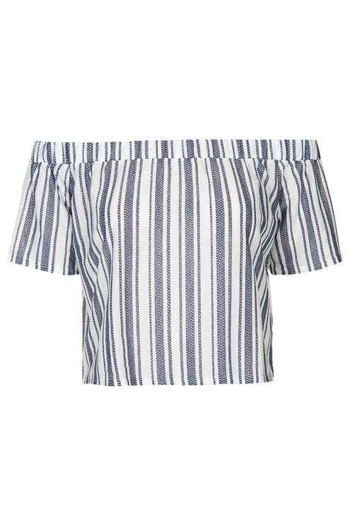 Soft Stripe Bardot Top