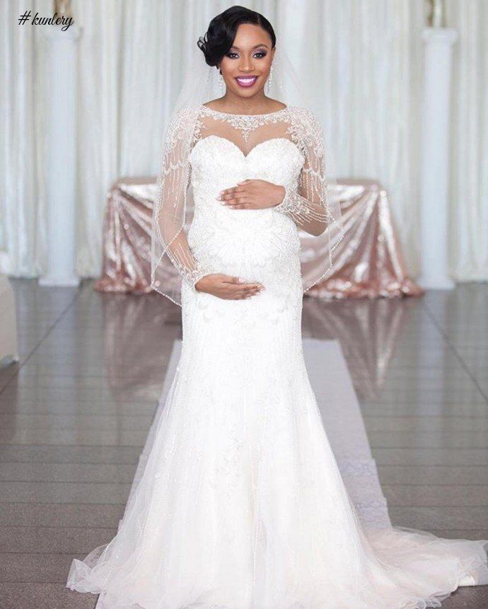 WEDDING DRESS INSPIRATION FOR PREGNANT BRIDES