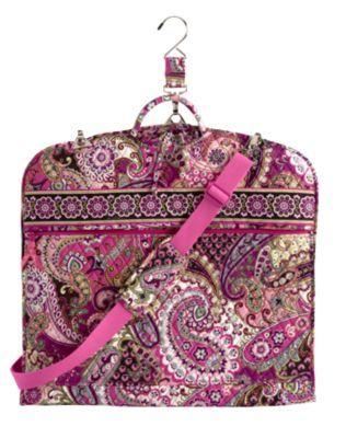 Vera Bradley Garment Bag in Very Berry Paisley, $135