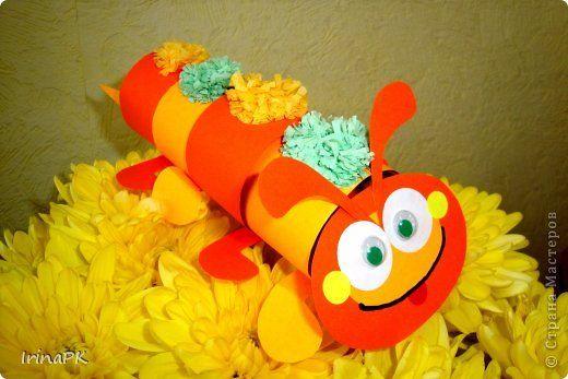чудо-гусеница (туловице=рулоны туалетной бумаги)