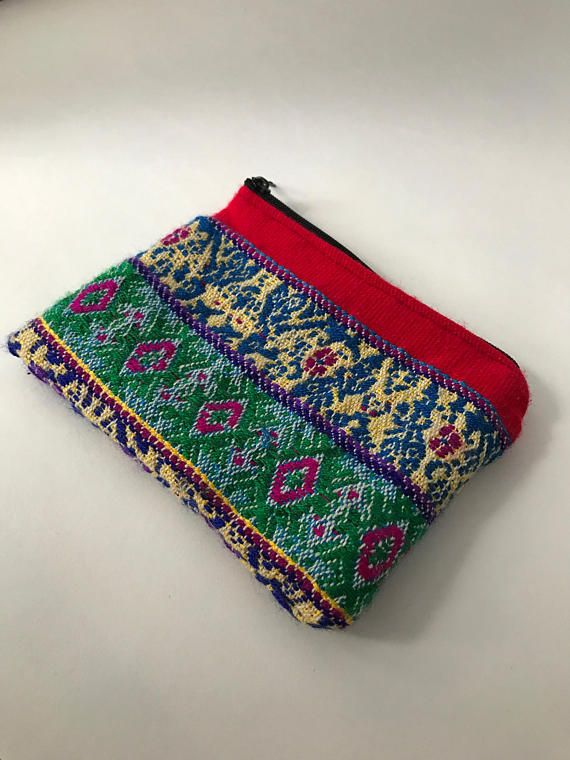 Mayan Embroidered Coin or Personal Care Purse from Marula Market. 20% of profits will help build a rescue center in Poptun, Guatemala!