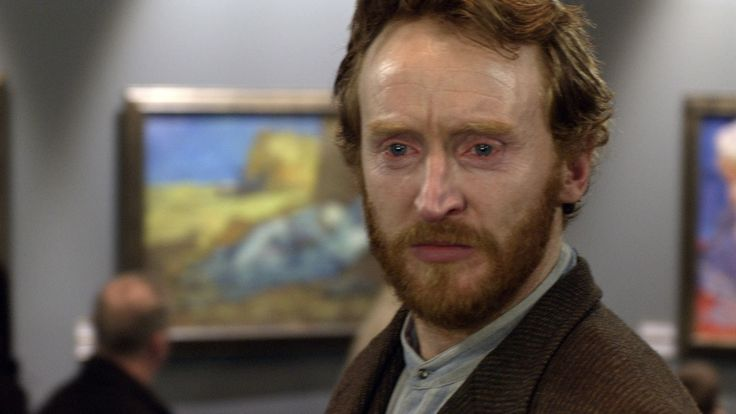Vincent Van Gogh Visits the Gallery in the future and sees his paintings displayed. Episode: Vincent and The Doctor. Doctor Who