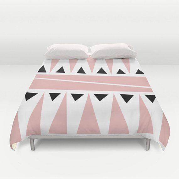 Pink and white Duvet Cover Designer duvet cover by thegretest