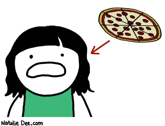 Comic by Natalie Dee: parenting 101- Pizza