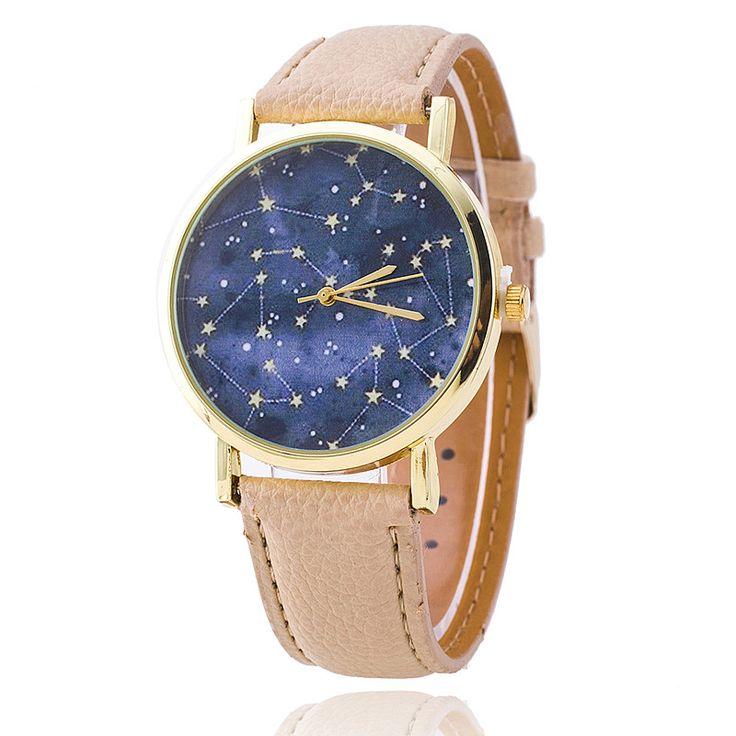 Купить товарКожаный ремешок созвездий часы Relogio Feminino мода женщины кварцевые часы свободного покроя роскошные часы горячая распродажа в категории Модные часына AliExpress.                        100% новые часы                      Водонепроницаемый в повседневной жизни (не в бас