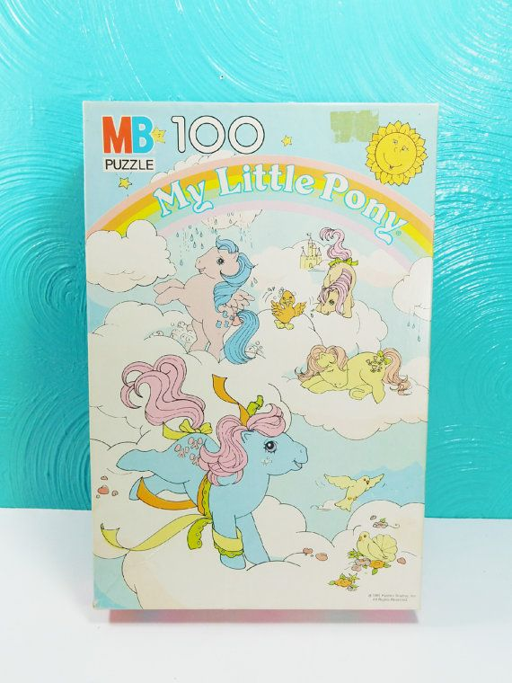 Vintage 1985 My Little Pony Puzzle 100 Piece by FourPawsVintage