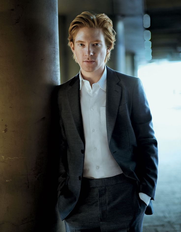 Domhnall Gleeson Who says red hair and freckles can't be sexy? One need only see Gleeson steaming it up next to Gigi Hadid in December's Vogue to fully appreciate his appeal.
