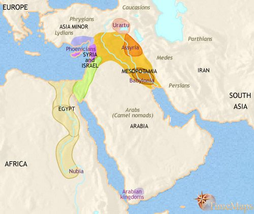 History Time Maps of the Phoenician Civilization
