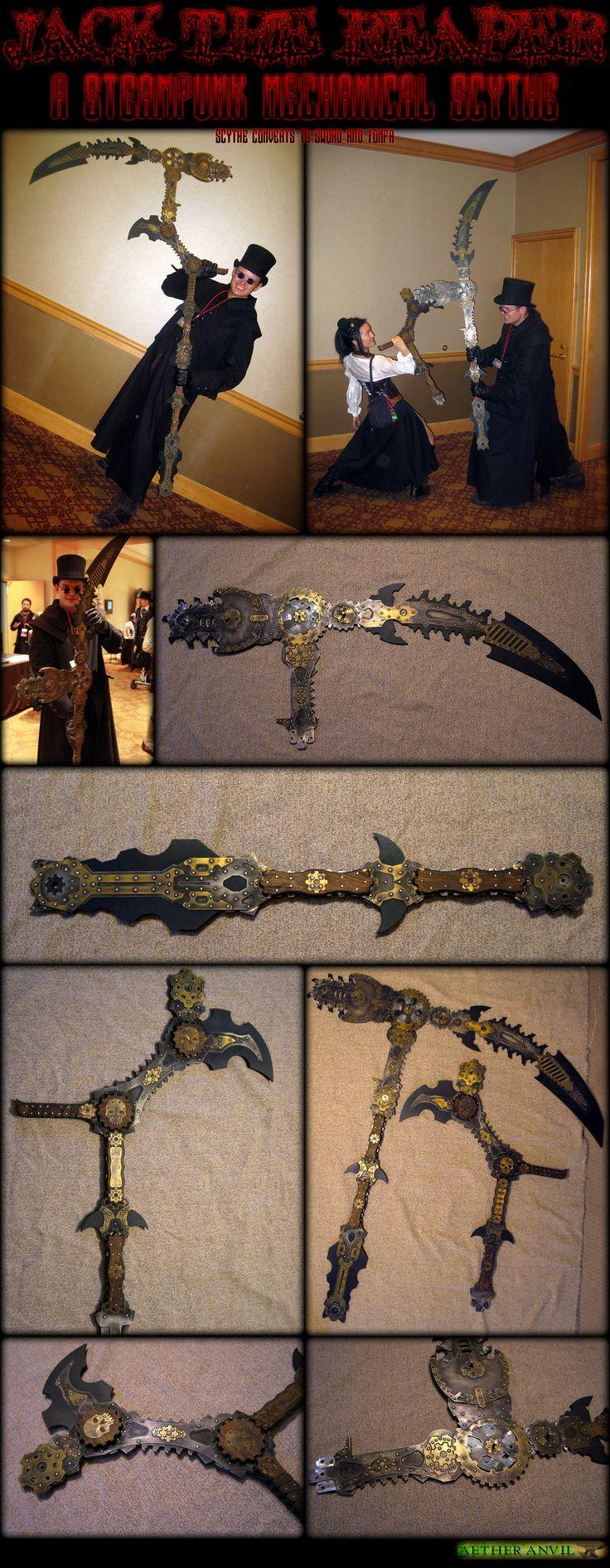 Steampunk Reaper Scythe by ~epicfoam on deviantART