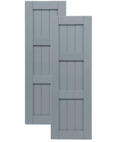 Composite Board and Batten Shutters | Traditional Composite Framed Board-n-Batten Shutters w/ Double Mullion ...