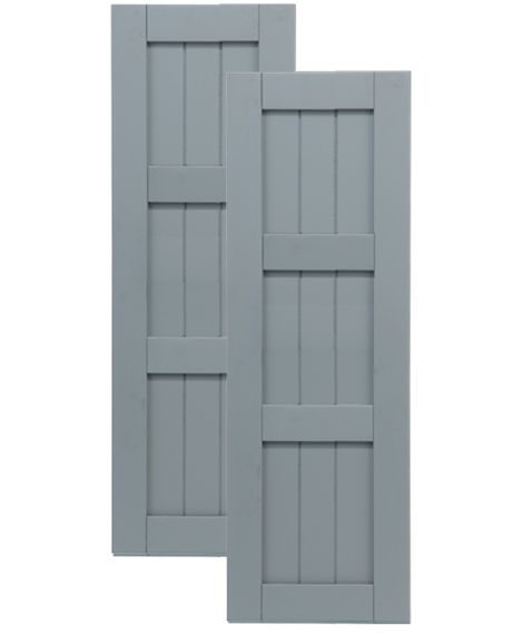 Composite Board and Batten Shutters | Traditional Composite Framed Board-n-Batten Shutters w/ Double Mullion ...