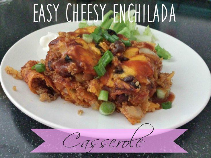 Vegetarian Enchilada Casserole Recipe {Freezer Friendly}
