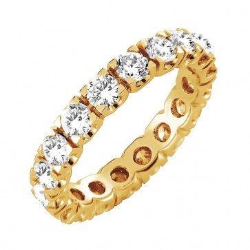 #Vihkisormus - Portland - #MalminKorupaja. #Timanttisormus, #keltakulta, #allianssi. #Diamond #ring by Malmin Korupaja. #Wedding ring, #yellowgold, #eternity.