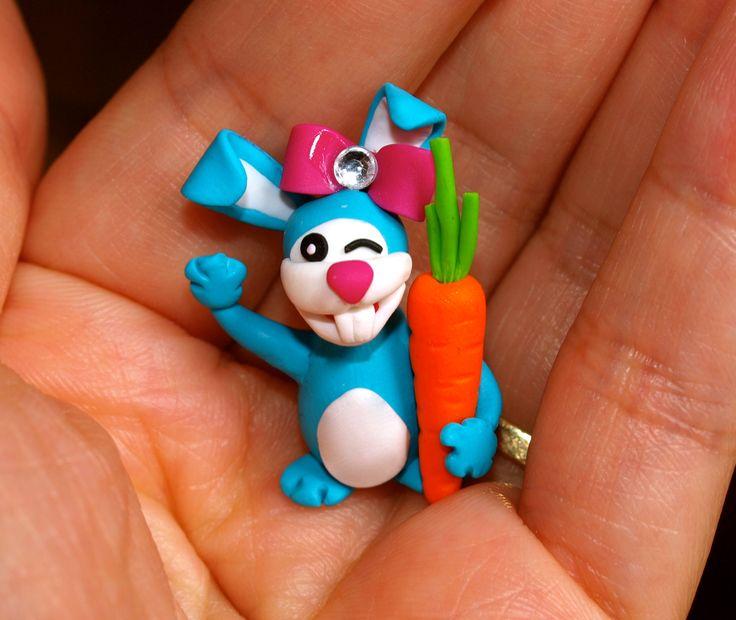 Miss Blue Bunny says Hi! MignonnerieShop on Etsy