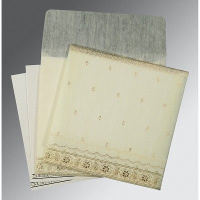 Give your wedding a special feel with our exclusive White/Offwhite/Cream/Ivory, Wooly, Gujarati Wedding Cards - G-8242M