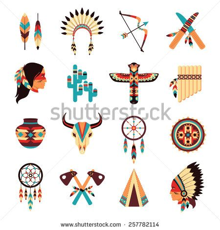 Ethnic american idigenous tribal amulets and symbols icons collection with native feathers headdress abstract isolated vector illustration – Kaufen Sie diese Vektorgrafik bei Shutterstock und finden Sie weitere Bilder.