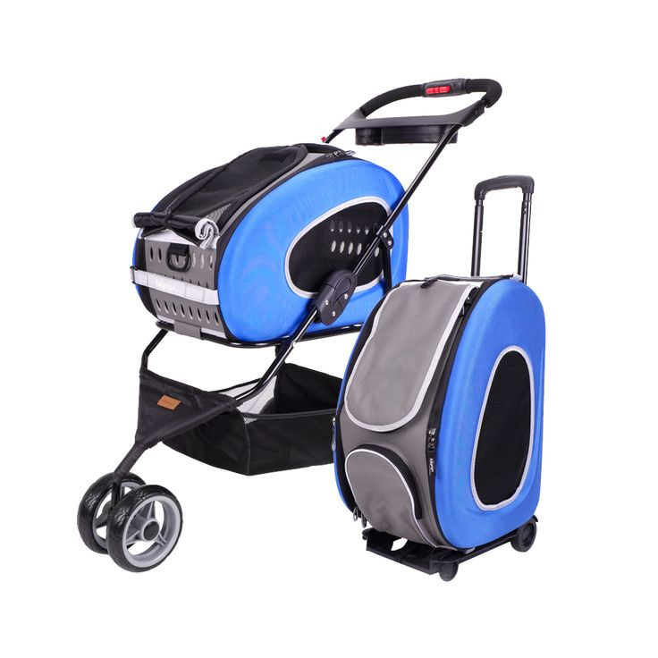IBIYAYA 5-IN-1 COMBO EVA PET CARRIER / PRAM / STROLLER - ROYAL BLUE