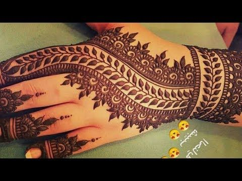 Elegant Arabic Henna Mehndi Design for beginners - Naush Artistica - YouTube
