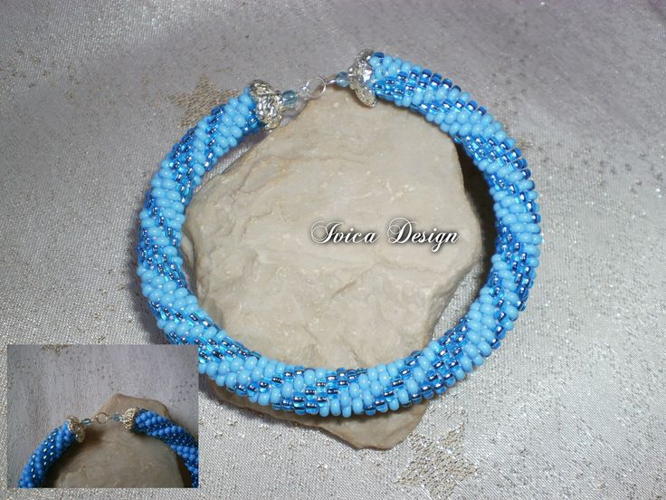 Light Blue Dream bead crochet bracelet <3 Find my bead dreams on: https://www.facebook.com/IvicaDesign/