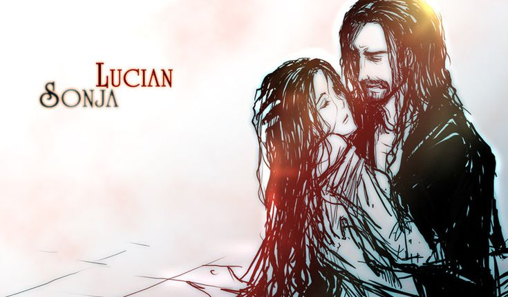"Lucian (Michael Sheen) and Sonja (Rhona Mitra) from ""Underworld: Rise of the Lycans"" <3"