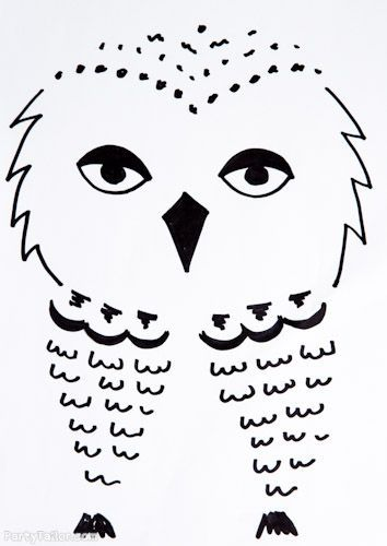 Harry Potter Halloween Owl picture for balloons