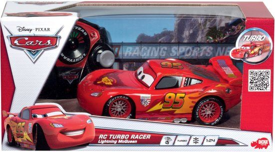 Cars McQueen - RC Auto 17 cm- Rood