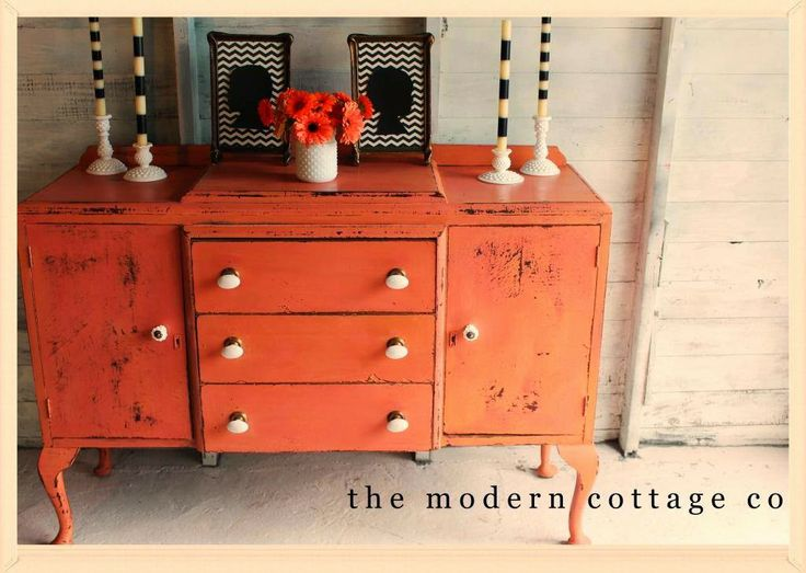 Awesome The Modern Cottage Company: Furniture Archives   Orange Buffet   Painted  Furniture