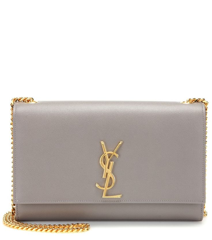 Grey and Gold YSL Bag | Accessories | Pinterest | Leather Shoulder ...