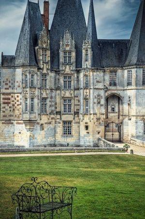 Castillo antiguo, Normandía, Francia