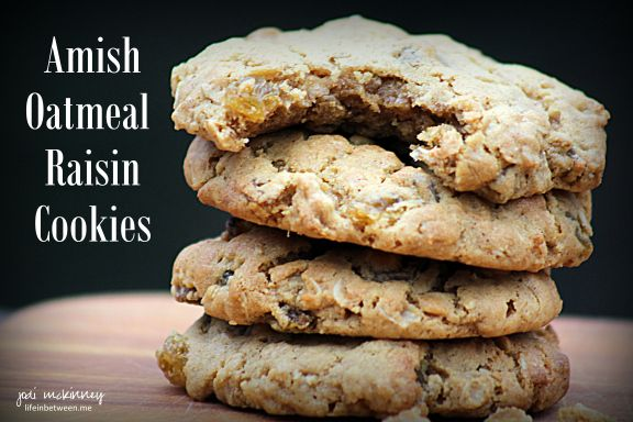 Old-Fashioned Amish Oatmeal Raisin Cookies - BEST EVER!