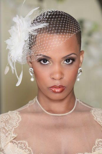 Extreme Short Wedding Hairstyle Black Hair Natural Hair