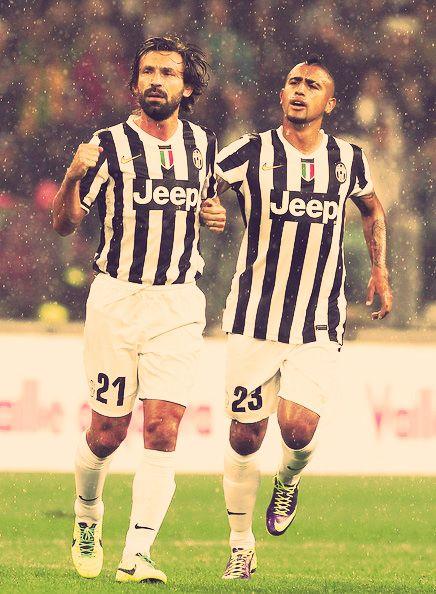 #Pirlo & #Vidal  - I grandi giocatori di calcio