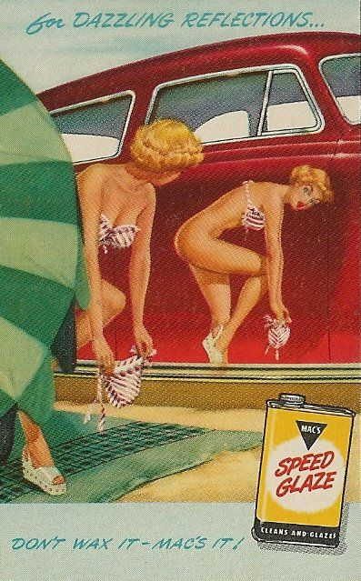 For that mirror-like shine! Speed Glaze ad from the 50s. Classic Car Ads!