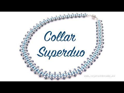 Elegante y sencillo collar realizado con cuentas Superduo y rocallas de Matubo 8/0 Todo el material esta en mi tienda on-line: http://www.crystaldreams.es Ma...