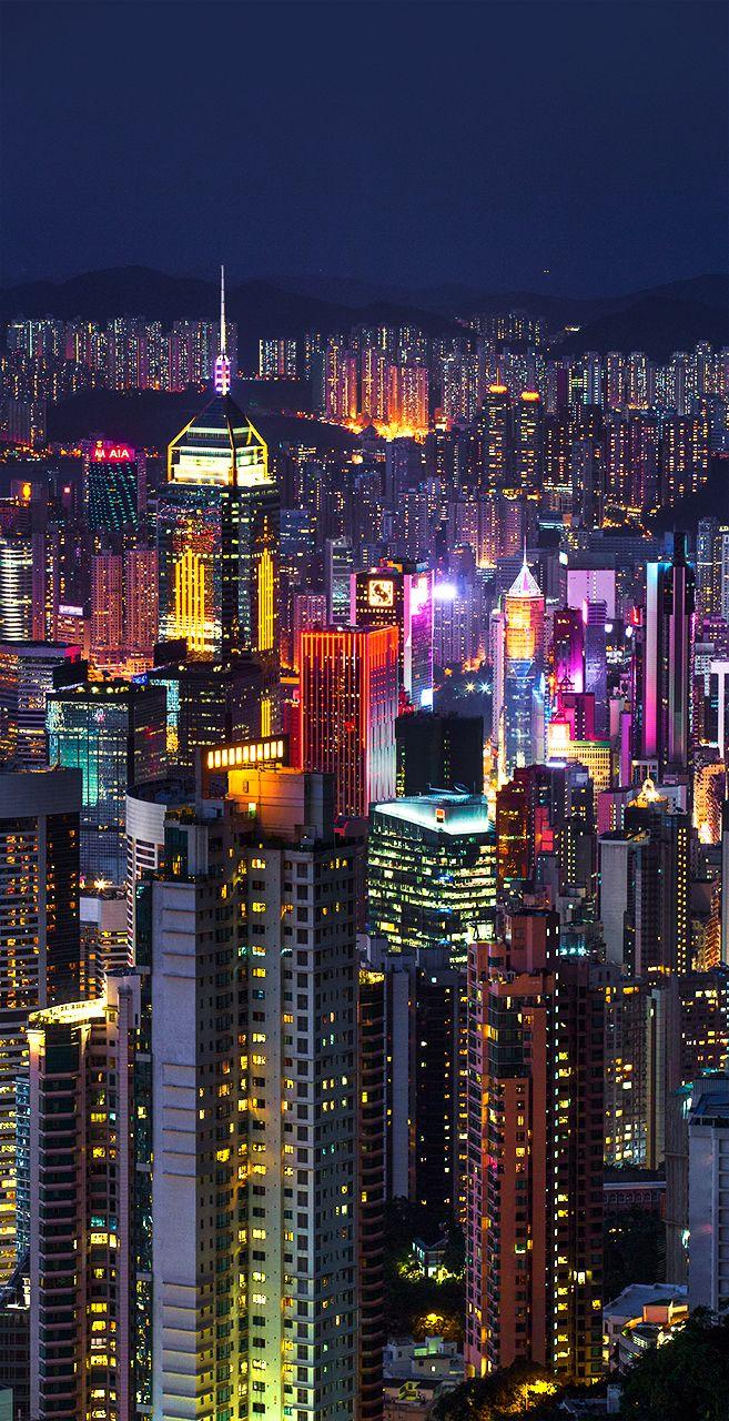 Hong Kong Print Hong Kong Skyline Hong Kong Photography Hong Kong Photo Victoria Peak Hong Kong China Photography City Lights Hong Kong Photography Hong Kong