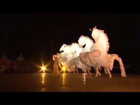 #Inflatable horse show from French theater group this video you have to see