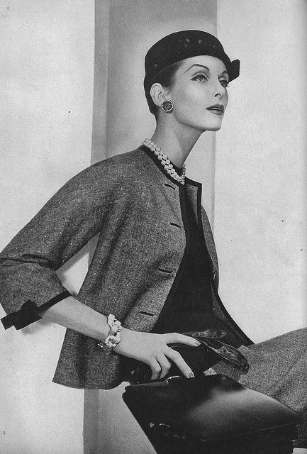 1955 - Chanel suit @ Horst P Horst for Vogue