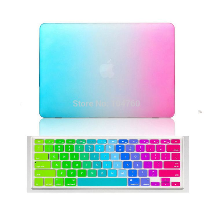 Rainbow Matte Case with Silicone Keyboard Cover for MacBook air Pro retina 11 12 13 15